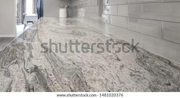 https www shutterstock com image photo granite countertop white grey tones subway 1481020376