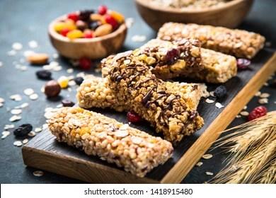 https www shutterstock com image photo granola bar nuts fruit berries on 1418915480