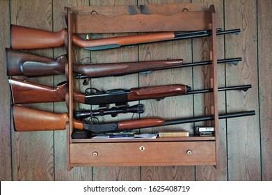 https www shutterstock com image photo gun rack top bottom 22 rifle 1625408719