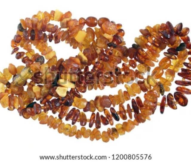 Homemade Female Beads Are Made Of Simple Rough Golden Color Baltic Sea Amber Stones