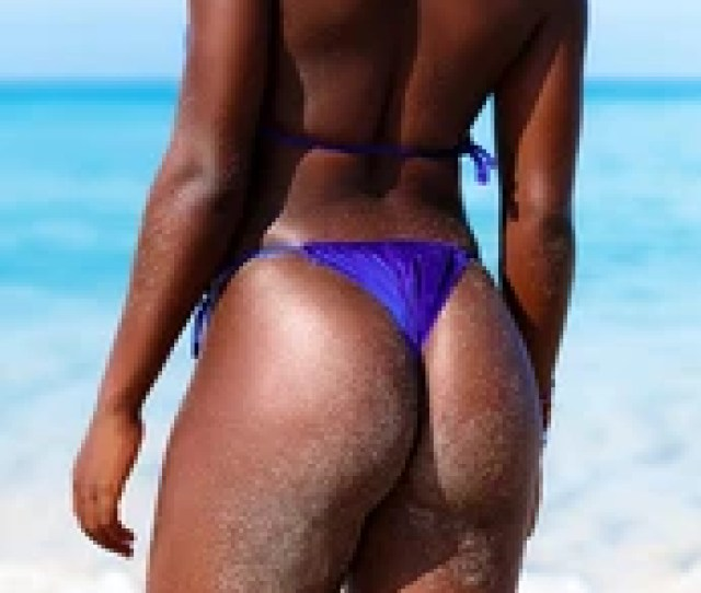 Ideal Black African Womans Butt And Hips Perfect Anti Cellulite And Skin Care Therapy
