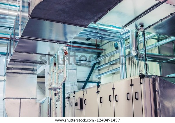 Industrial Ventilation Air Handling Unit Ductwork Stock Photo (Edit Now) 1240491439