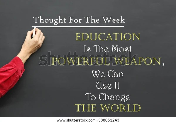 Inspirational Thought Day Message Education Most Stock Photo Edit Now 388051243