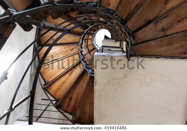 Interior Design Circular Stairs Buildings Homesspiral Vintage   Spiral Staircase Design For Tanks   Wrought Iron   Architecture   Handrail   Steel   Stair Railing