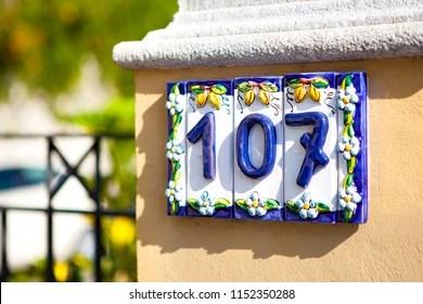 https www shutterstock com image photo italian sicilian traditional ceramic plate blue 1152350288