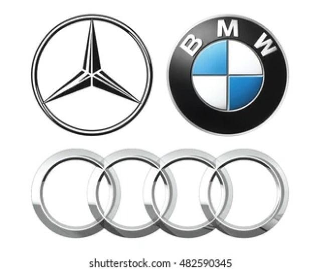 Kiev Ukraine September   Collection Of Popular German Car Logos Printed