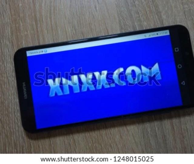 Konskie Poland December 01 2018 Xnxx Com Logo Displayed On Smartphone