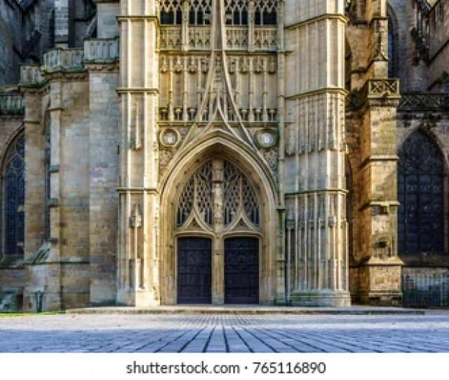 A Landmark Of Famous Cathedral In Limoges City In France Europe Limoges Cathedral Is