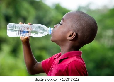 Image result for african person drinking water