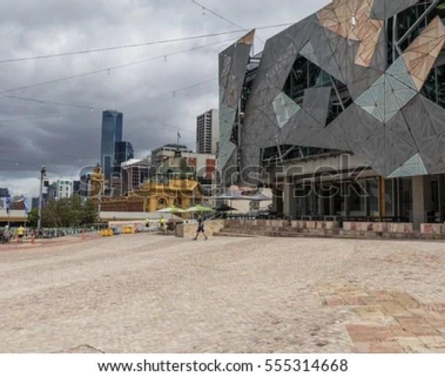 Melbourne Australia Nov 07 2012 Iconic Federation Square Celebrated 10 Years Since Opening