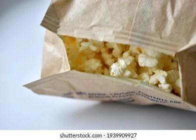 https www shutterstock com image photo microwave popcorn on white background bag 1939909927