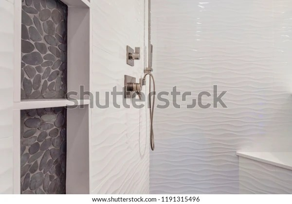 https www shutterstock com image photo modern bathroom shower interior pebbles inset 1191315496