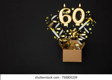 https www shutterstock com image photo number 60 gold celebration candle gift 750005239