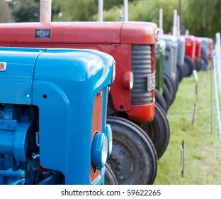 You might need tires that are designed for narrow row crop work or large diameter tires that are great for clearing high crop. Antique Tractor Show Hd Stock Images Shutterstock