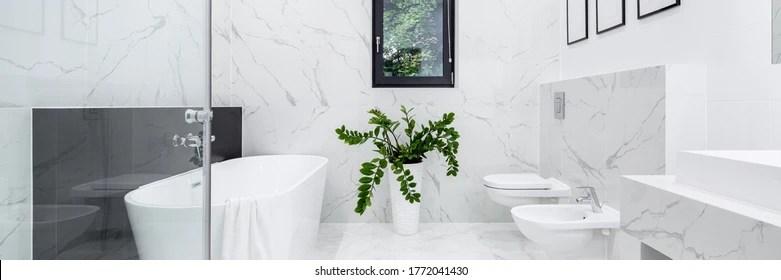 https www shutterstock com fr image photo panorama elegant bathroom white marble floor 1772041430