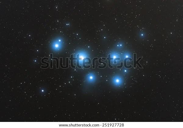Pleiades Nebula Constellation Taurus Bull Taken Stock ...