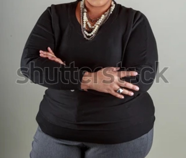 Plus Size Bbw African American Woman In The Studio