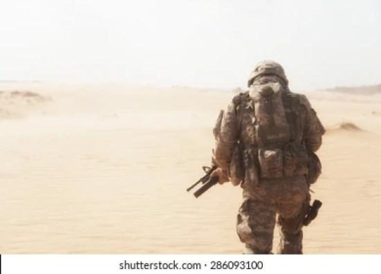 Soldier Desert Images, Stock Photos & Vectors   Shutterstock