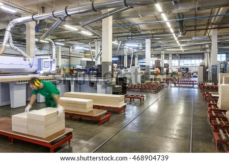 Production Department Furniture Factory Stock Photo Edit
