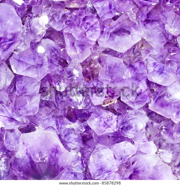 Purple Amethyst Crystals Closeup See My Stock Photo (Edit Now) 85878298