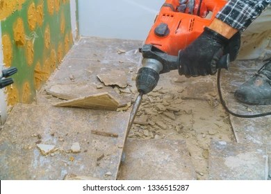 https www shutterstock com image photo removal old floor during renovation housing 1336515287