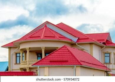 https www shutterstock com image photo roof house metal profile 570934072