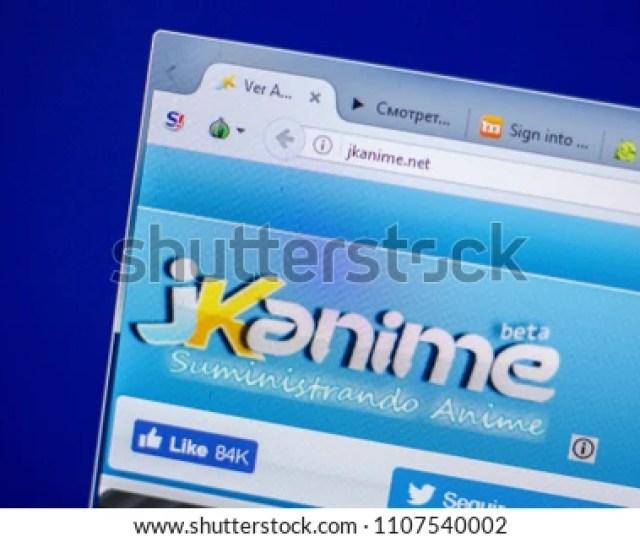 Ryazan Russia June 05 2018 Homepage Of Jkanime Website On The Display