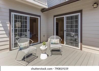 https www shutterstock com image photo seating arrangement on sunny deck showing 790819159