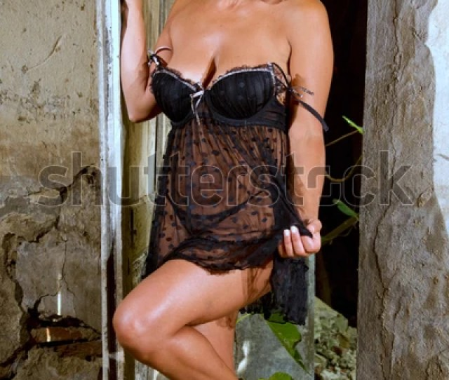 Sexy Woman Lingerie Among Old Walls Stock Image Download Now