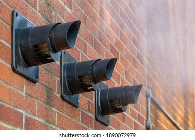 https www shutterstock com image photo three central heating boiler flues releasing 1890072979