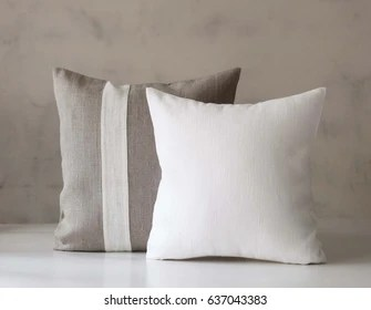 https www shutterstock com image photo throw pillows set white linen accent 637043383