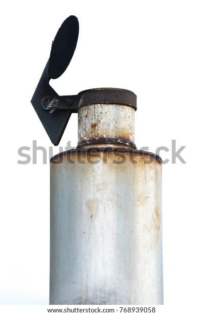 https www shutterstock com image photo tractor exhaust pipe muffler rain flap 768939058