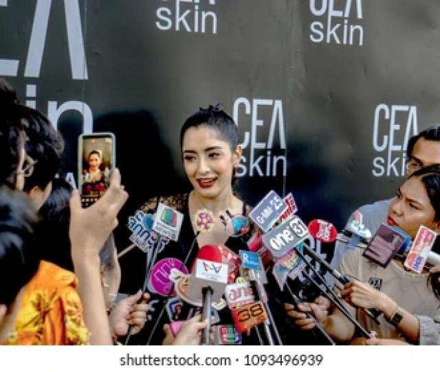 Victory Monument Bangkok Thailand May 21 2018 Pinky Savikah Thai Actress With