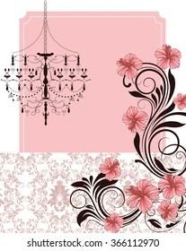 https www shutterstock com image photo vintage invitation card ornate elegant retro 366112970