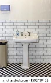 https www shutterstock com image photo vintage style white porcelain sink double 1502439431