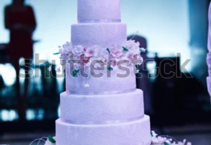 Wedding Cake Large Wedding Cake Roses Stock Photo Edit Now
