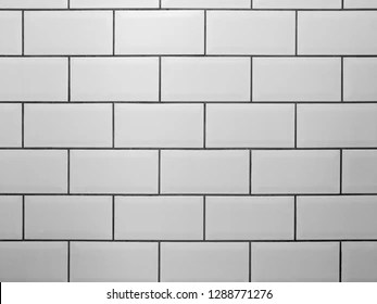 https www shutterstock com image photo white metro tiles grey grout rectangle 1288771276