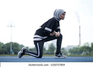 Set setelan panjang untuk aktivitas outdoor & indoor, seragam, dan bisa juga utk hijab untuk zumba / aerobic / fitness / senam dll Hijab Exercise High Res Stock Images Shutterstock