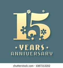 https www shutterstock com image vector 15 years anniversary vector icon symbol 1087213202
