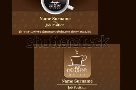 2 Set Coffee Business Card Template Stock Vector  Royalty Free     2 Set of Coffee business card template  for coffee shop  Coffee business  card design
