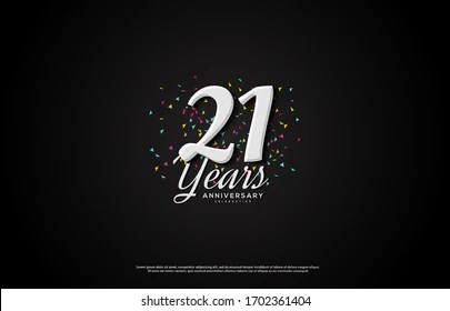 https www shutterstock com image vector 21st anniversary background illustrations numbers white 1702361404
