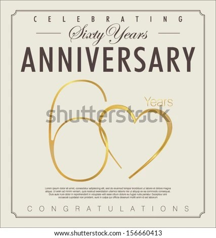 Download 60 Years Anniversary Background Stock Vector (Royalty Free ...