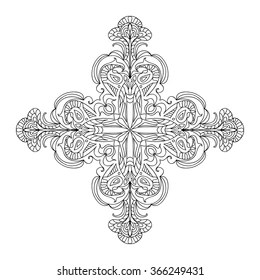 Cross Coloring Page Images Stock Photos Vectors Shutterstock