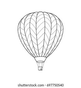 Hot Air Balloon Coloring Page Images Stock Photos Vectors Shutterstock