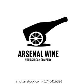 https www shutterstock com image vector arsenal wine logo bar design vector 1748416826