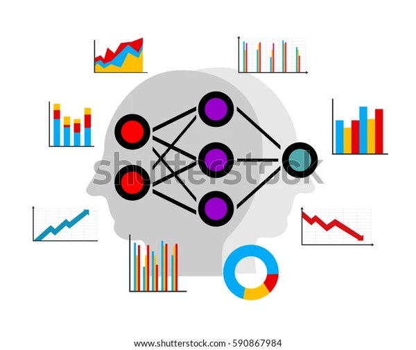 「Artificial Neural Network Deep Learning Data」のベクター畫像素材(ロイヤリティフリー) 590867984