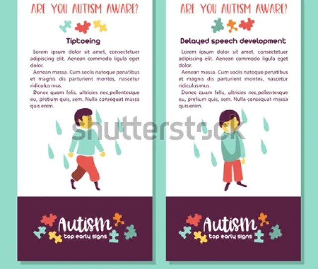 Autism Early Signs Of Autism Syndrome In Children Vector Illustration Children Autism Spectrum