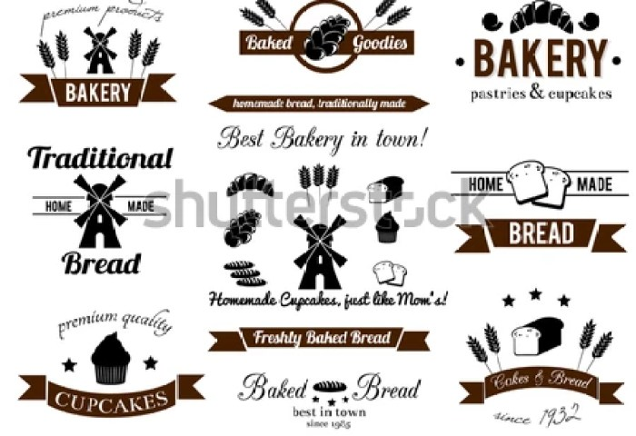 Bakery Sign Isolated On White Background Stock Vector Royalty Free