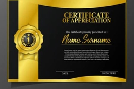 Certificate Template Images  Stock Photos   Vectors   Shutterstock beauty elegant certificate template with 3d gold pin medal brand award   premium quality