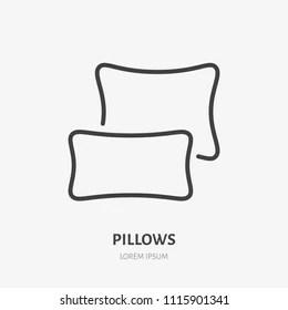 https www shutterstock com image vector bedding bedroom decorations flat line icon 1115901341